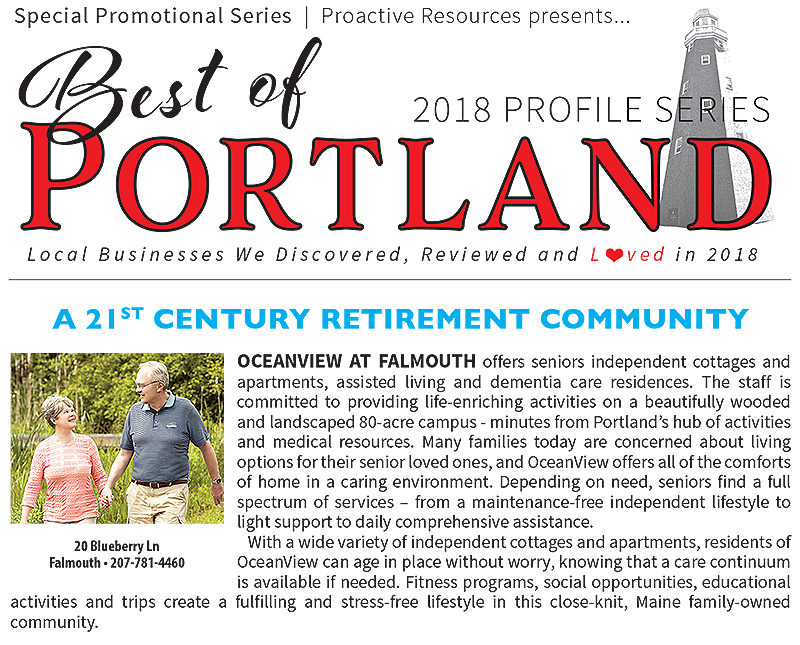 OceanView Featured in 2018 Best of Portland Profile Series