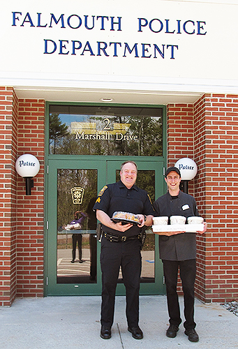 Falmouth Police Sargent, George Savidge with OceanView Executive Specialty Chef, Chris Ventimiglia.