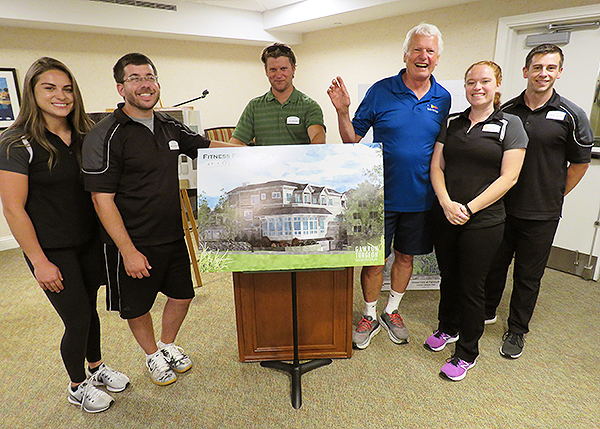 Left to right: Christina Abbey, Fitness Specialist; Ross Schneider Fitness Specialist; Chris Wasileski, Director of Development; John Wasileski, Owner; Kate Foley, Fitness Manager; Jameson Skillings, Personal Trainer.