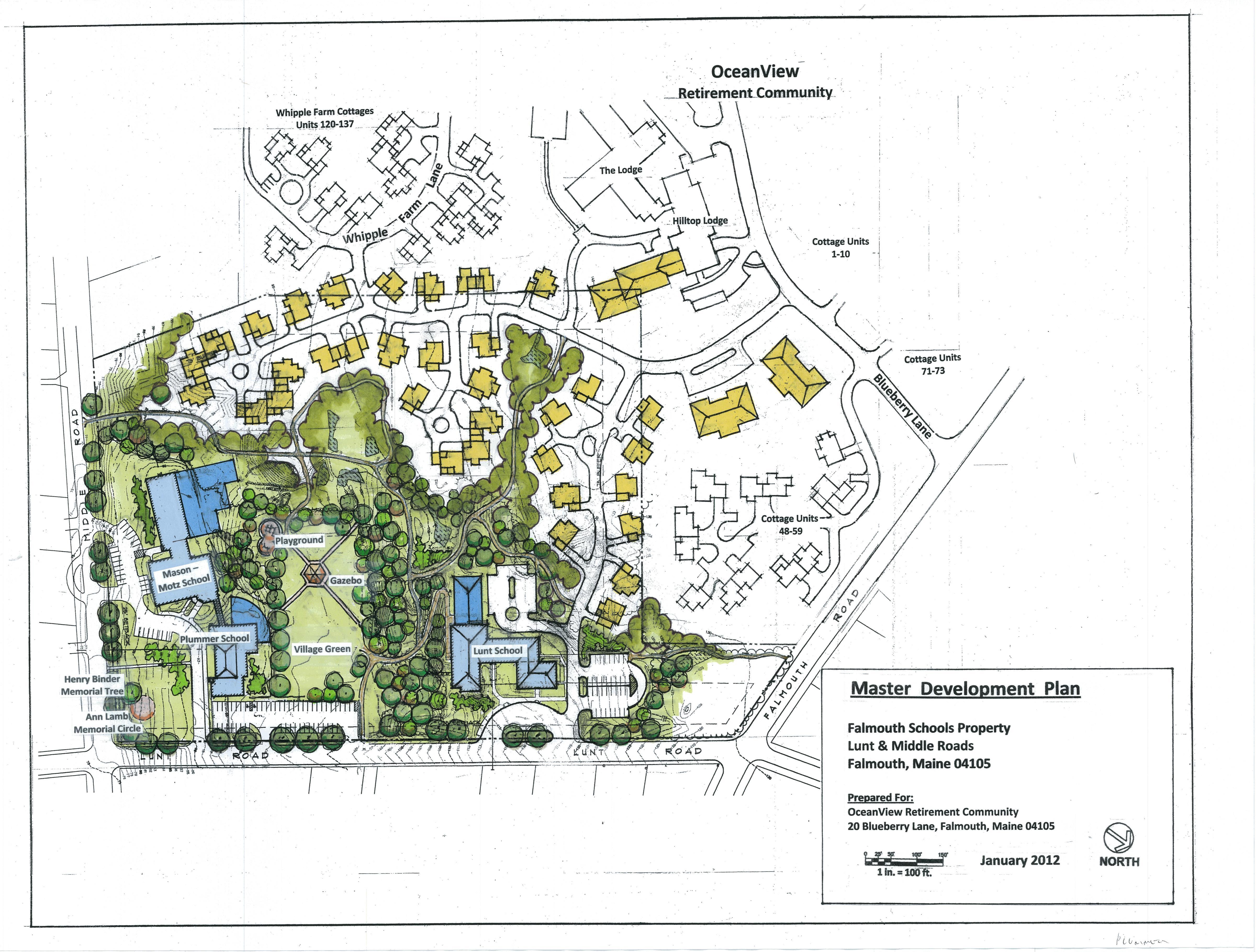 OceanView Falmouth Schools Property Master Development Plan