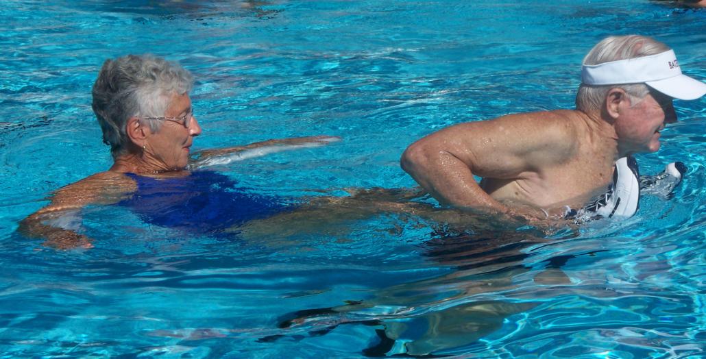 Barbara in pool