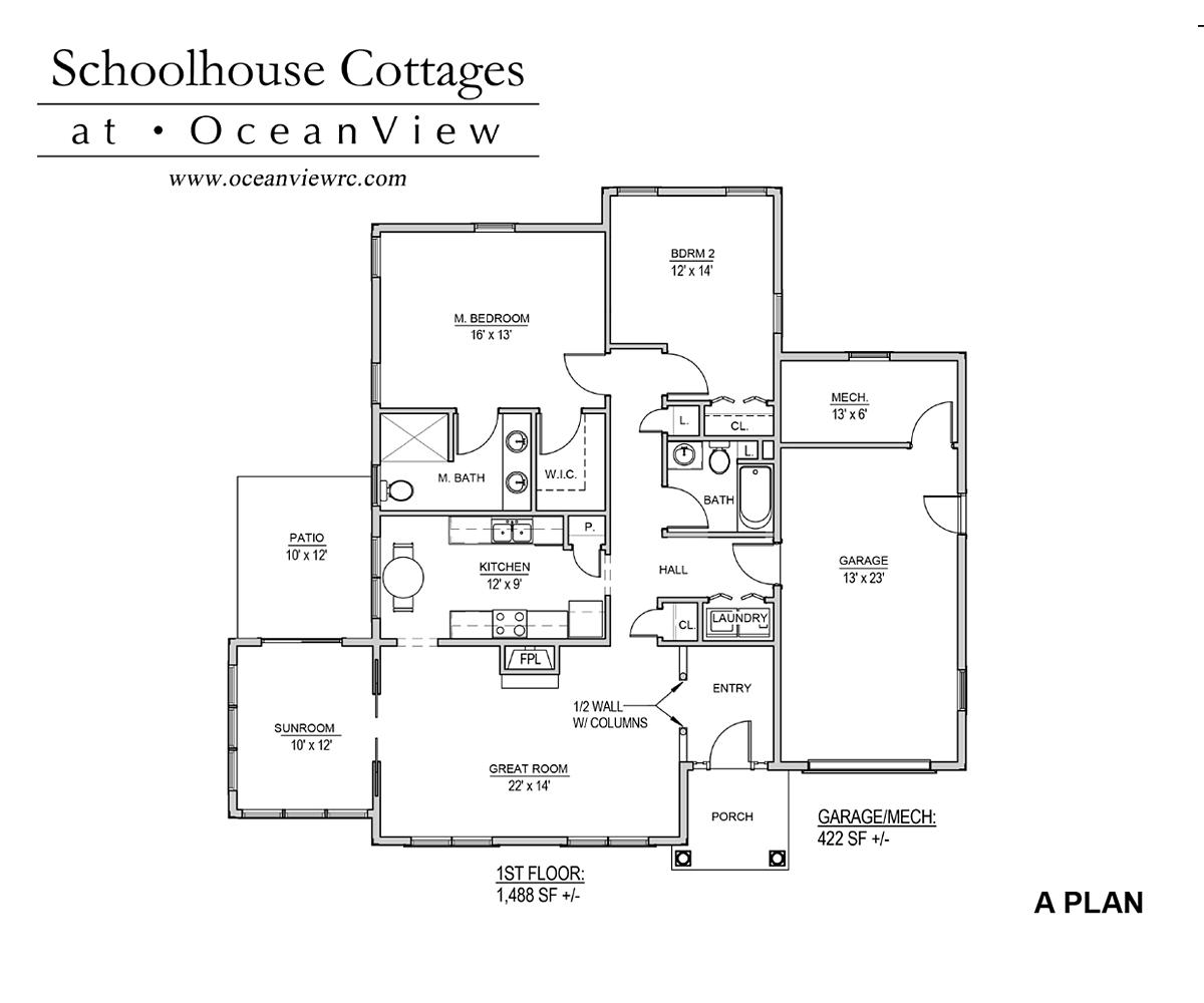 School House Cottages - Plan A