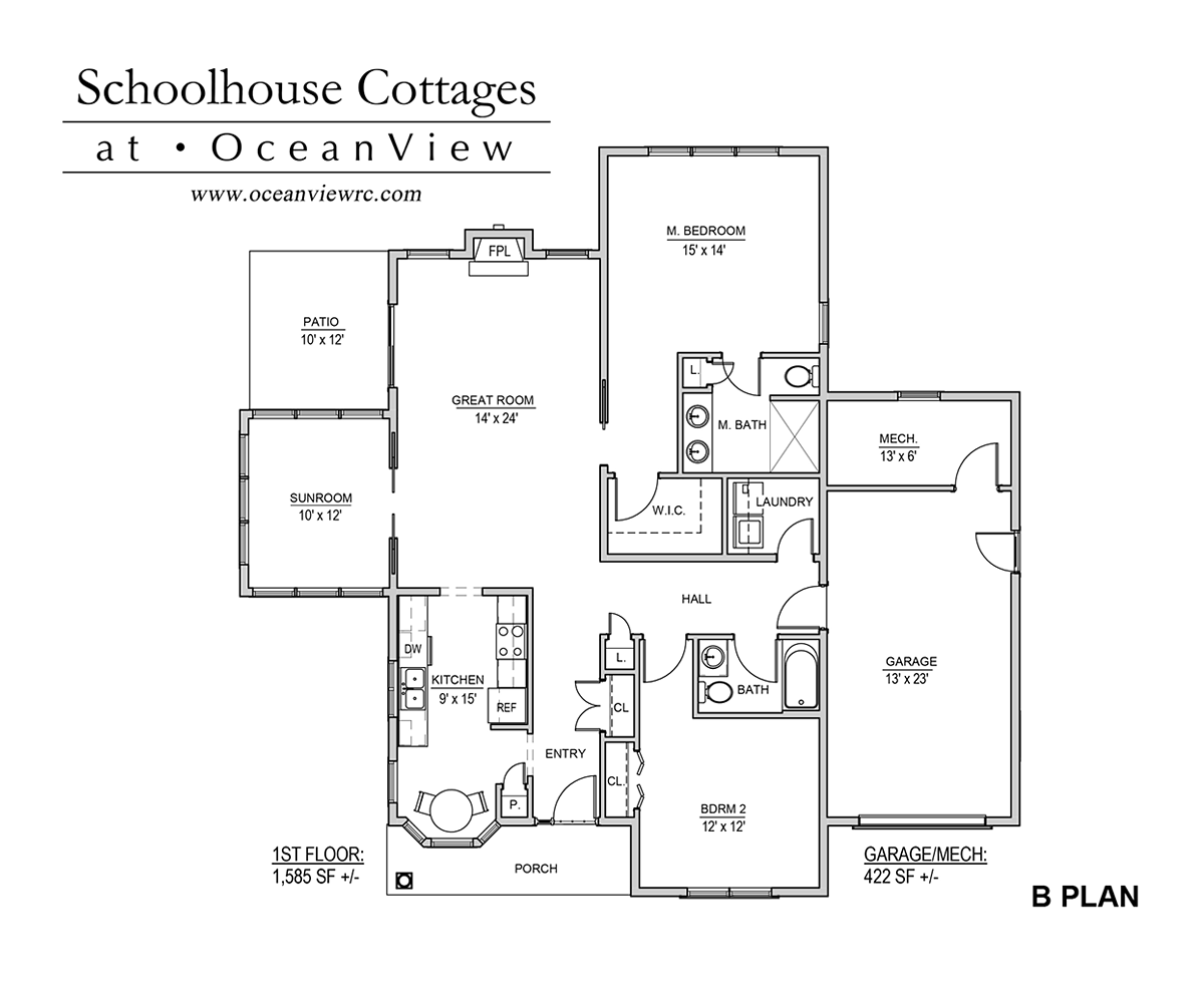 School House Cottages - Plan B