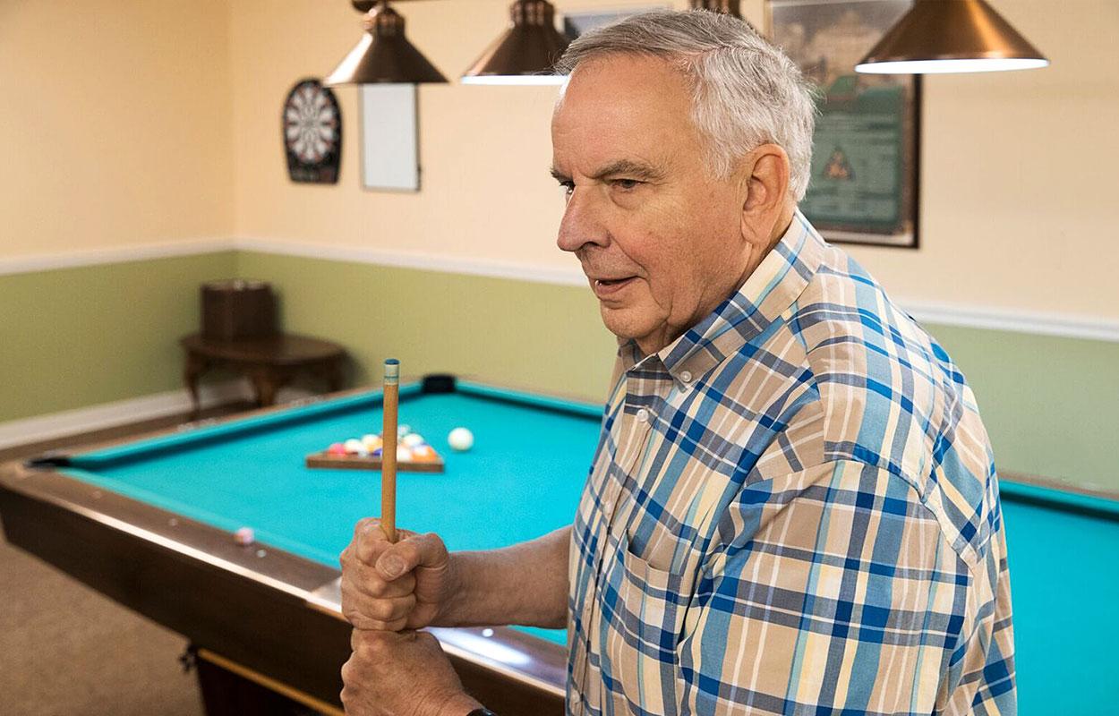 Maine Lodge Proper - Game Room | Retirement Living Apartments