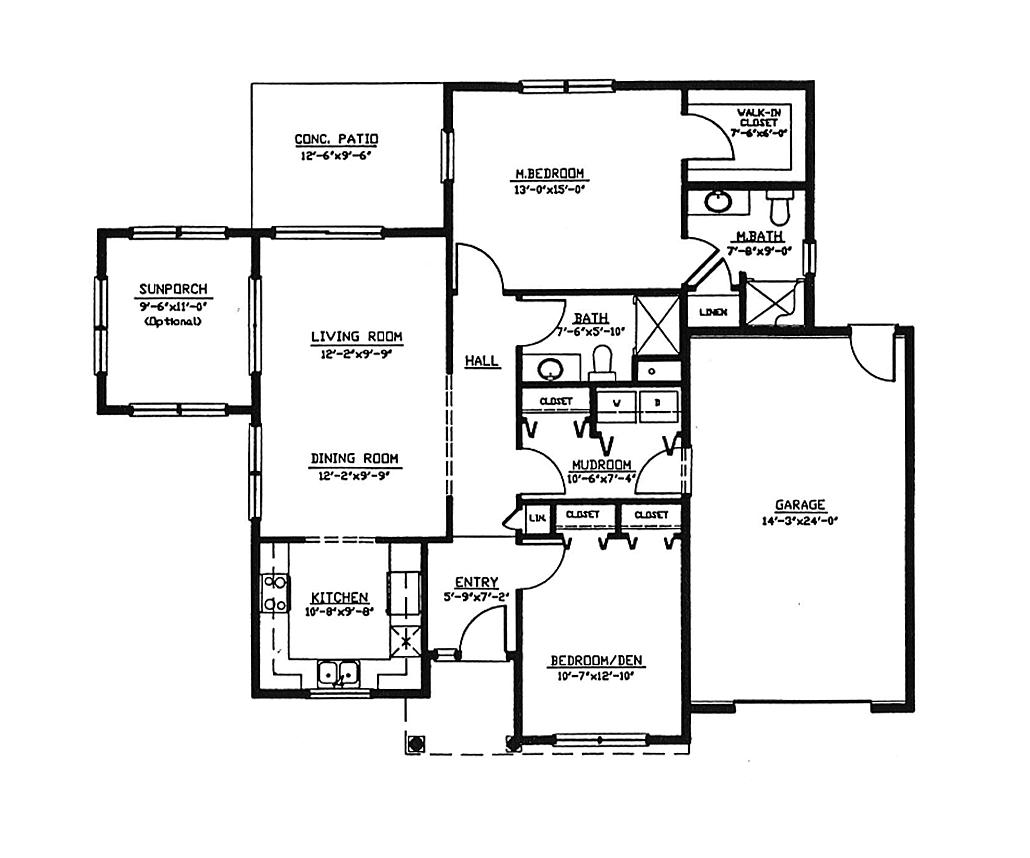 Floor Plan - Cottages II & III