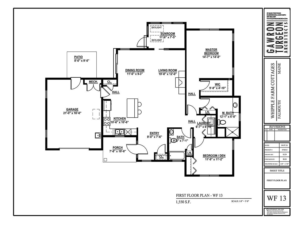 Whipple Farm Floor Plan