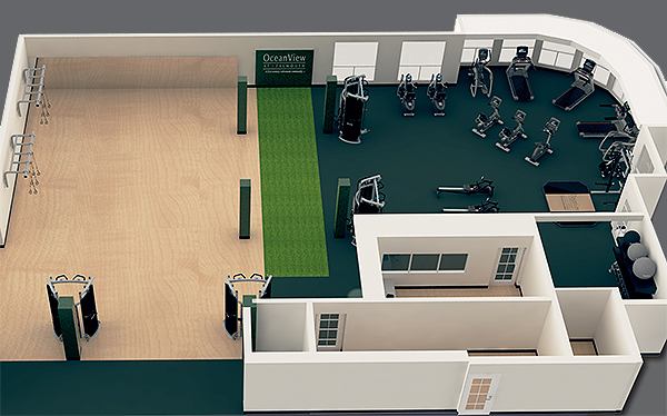 Fitness Pavilion Interior Rendering 1