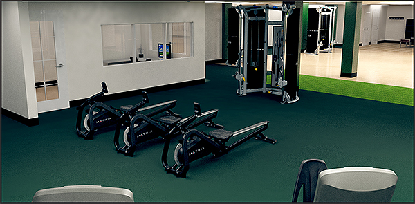 Fitness Pavilion Interior Rendering 2