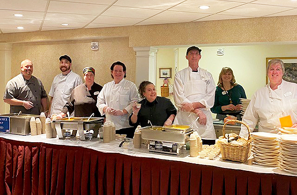 OceanView Chef's lined up at our Annual Soup Challenge!
