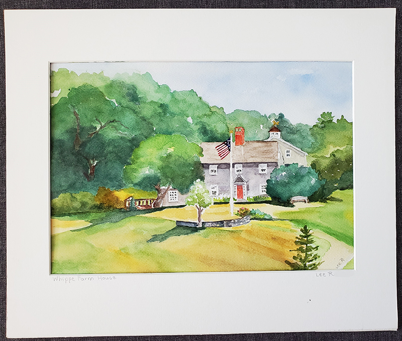 OceanView Resident Lee's Whipple Farmhouse Watercolor