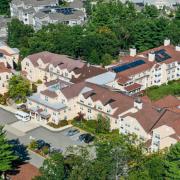 OceanView Lodge Aerial   Senior Living Apartments