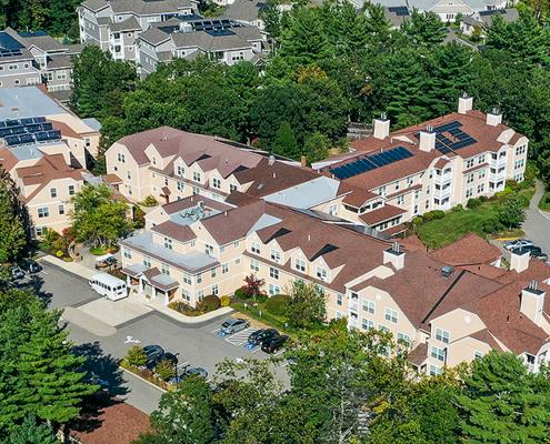 OceanView Lodge Aerial | Senior Living Apartments