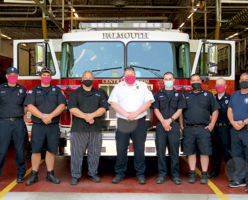 Falmouth Fire-EMS Chief Howard Rice and his team